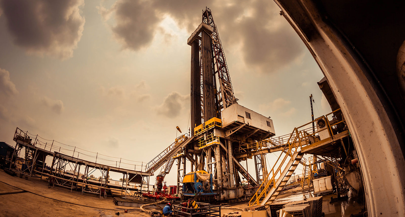 Oil Drilling onshore rig